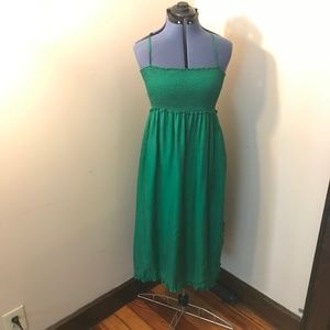 J. Crew   Size S. Kelly Green Maxi Dress